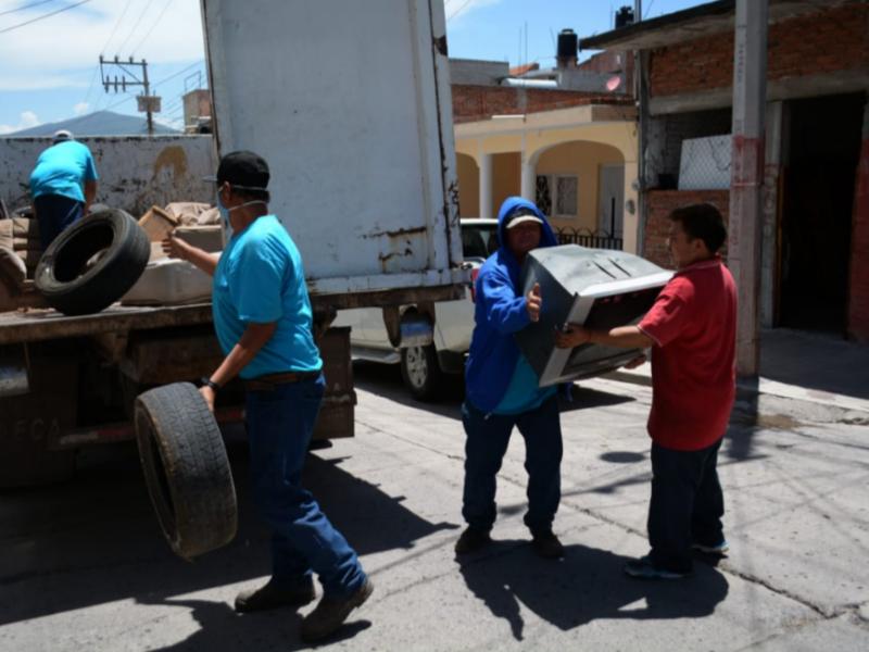 Colectan 48 toneladas en campaña de descacharrización