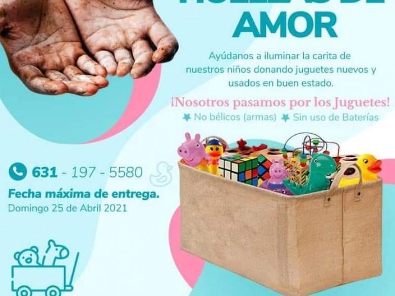 Colectan juguetes para regalarlos a menores el día del niño