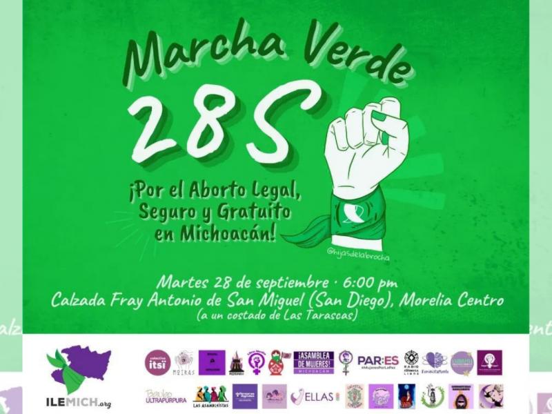 Colectivas feministas anuncian marcha para el 28 de septiembre