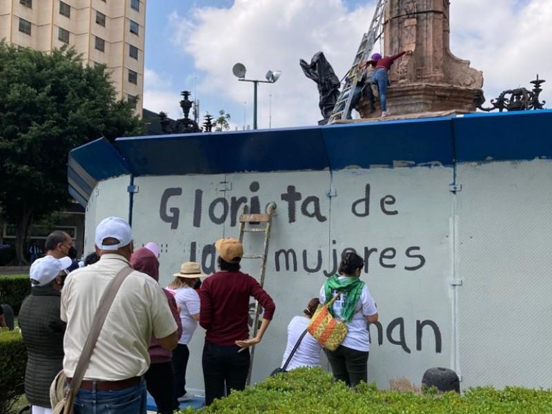 Colectivos toman Glorieta de Colón