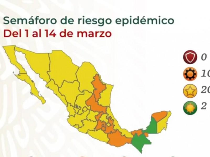 Colima pasará al semáforo amarillo del 1-14 de marzo