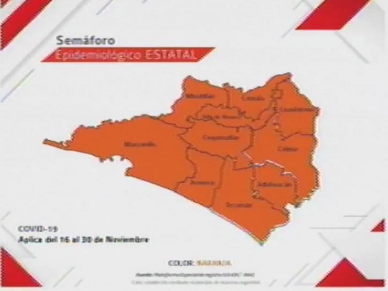 Colima permanece en semáforo naranja hasta el 30 de noviembre