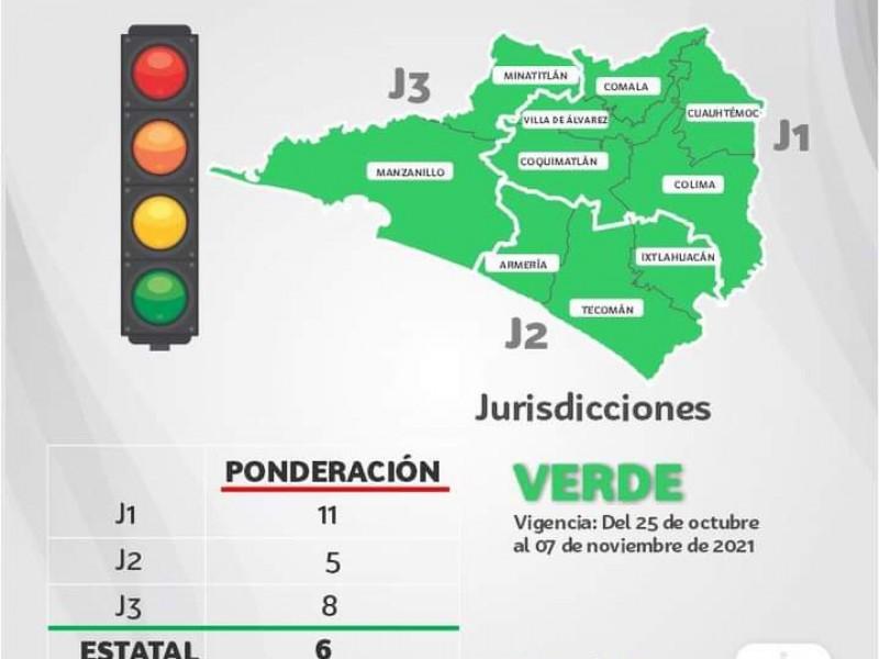 Colima regresa a color verde en semáforo por Covid-19