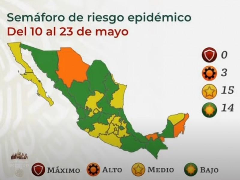Colima seguirá en amarillo por dos semanas más