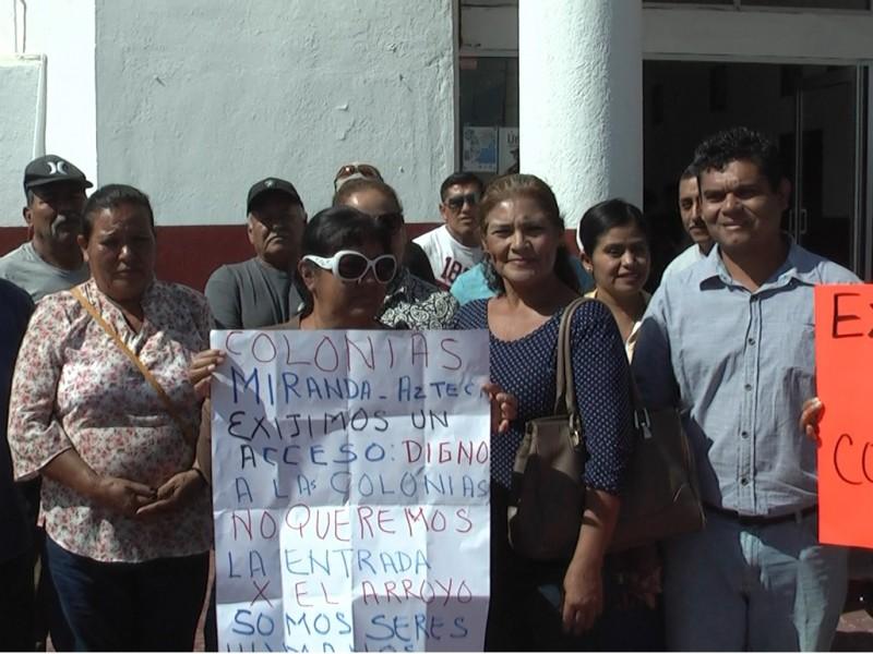 Colonia Miranda; 14 años sin agua