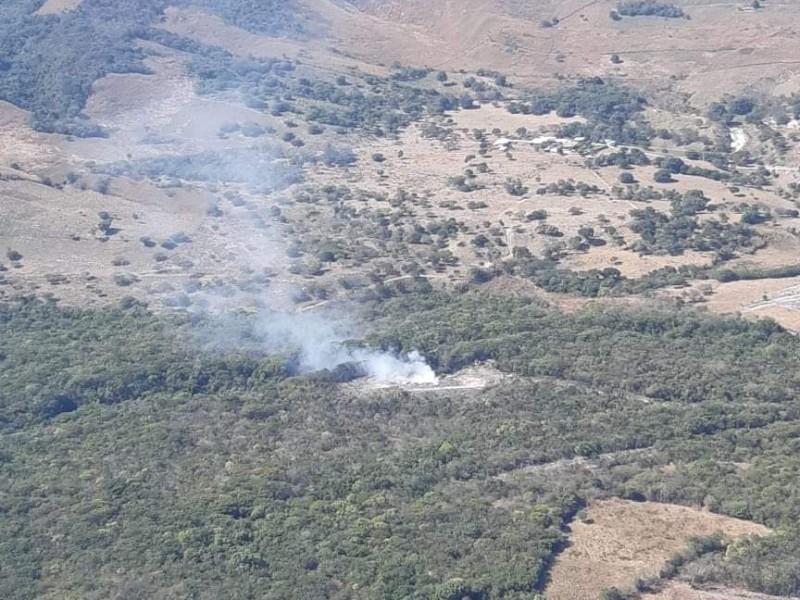 Combate frontal contra incendios en Chiapas