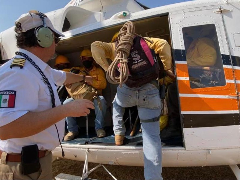 Combaten 12 incendios forestales activos en Chiapas
