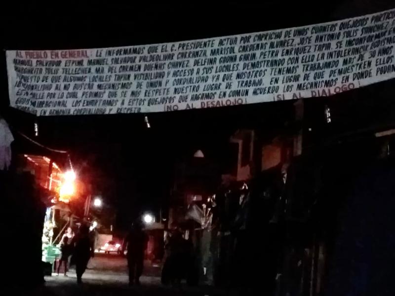 Comerciantes de Petatlán dejan manta; invitan al diálogo