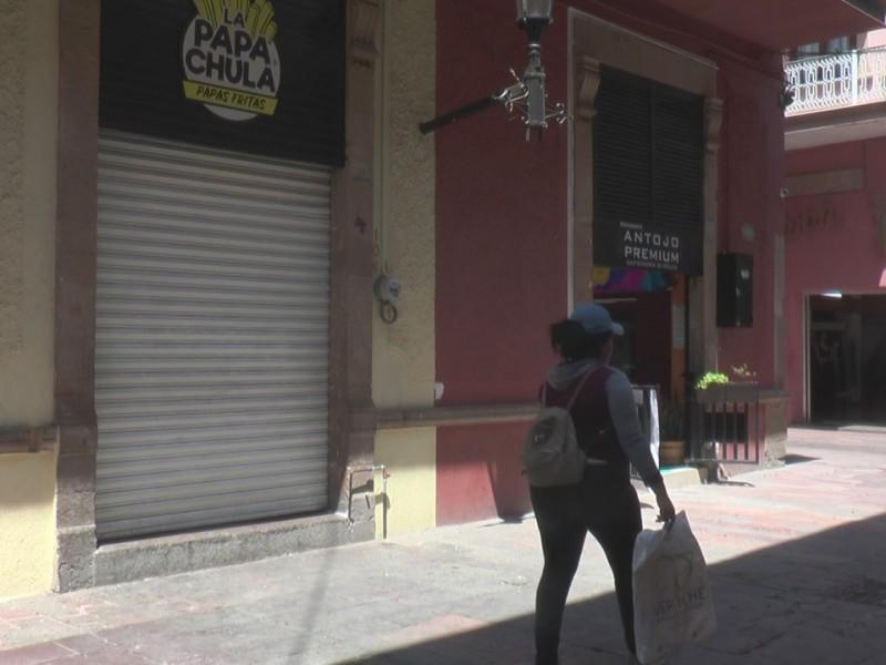 Comerciantes de Zona Centro cierran negocios para no exponerse