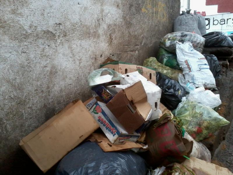 Comerciantes denuncian acumulación de basura en el mercado de Sahuayo