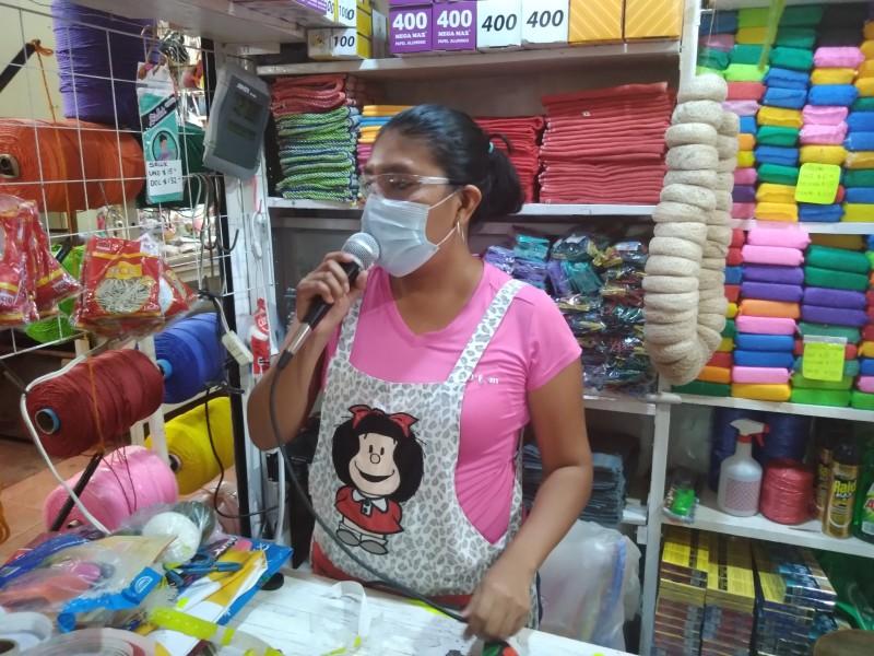 Comerciantes exhortan a ciudadanos respetar medidas sanitarias; refuerzan estrategias