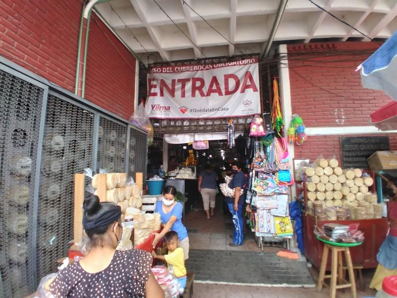 Comerciantes exigen instalación de filtros sanitarios en mercado Jesús Carranza