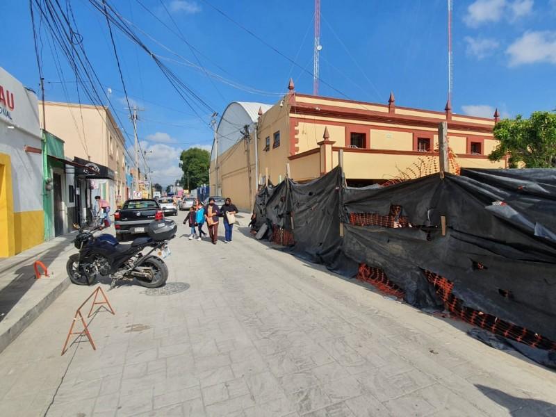 Comercios bajaron sus ventas por remodelaciones en San Andrés Cholula