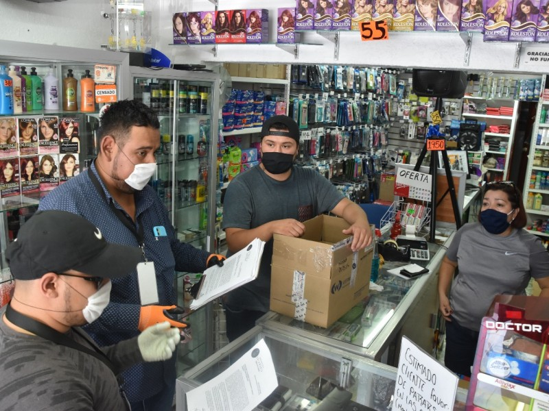 Comercios deben acatar la sana distancia: Fiscalización