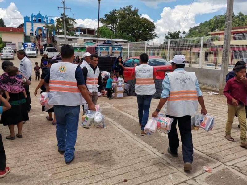 Comienza a llegar ayuda humanitaria en Pantelhó