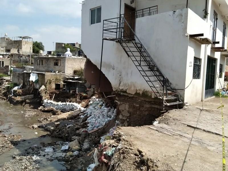 Comienza derribo de viviendas dañadas por inundaciones en Zapopan