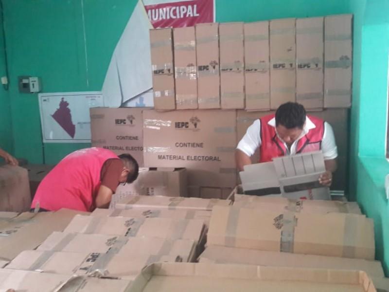 Comienza entrega de paquetería electoral en Chiapas