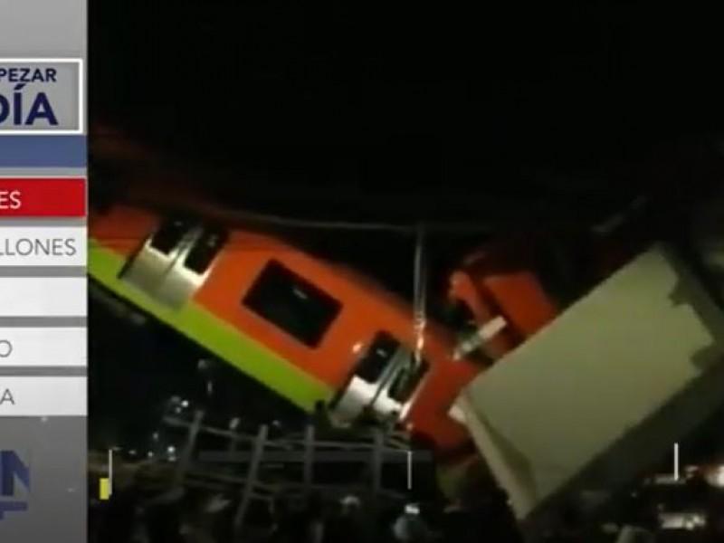 Comienzan peritajes tras accidente de la L12 del Metro