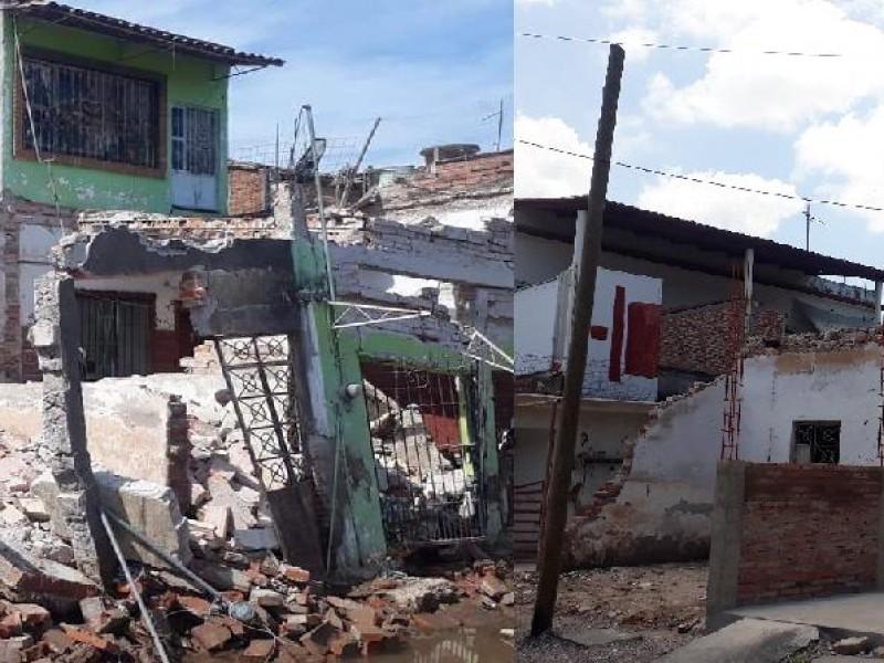 Comparativa calle Centenario Tuxpan; el antes y después