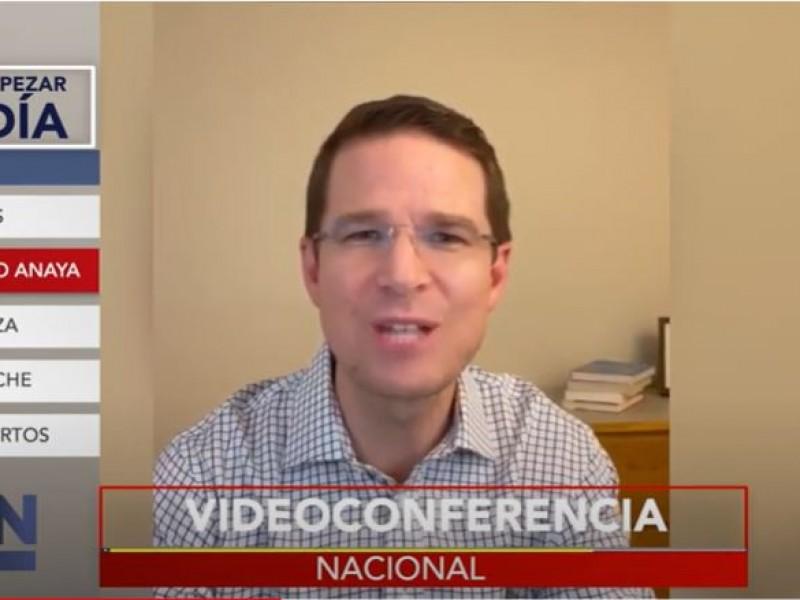 Comparece Ricardo Anaya... por videoconferencia
