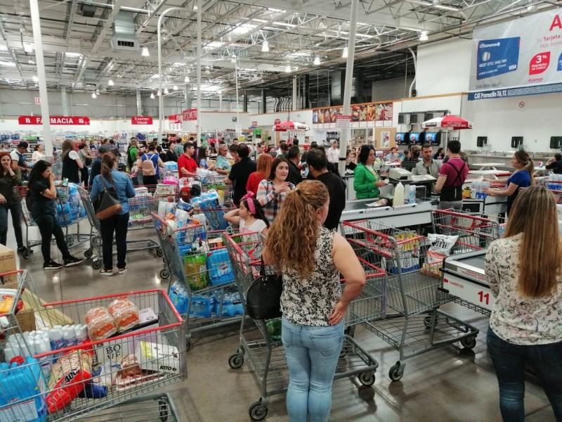 Compras de pánico en Culiacán ante Coronavirus