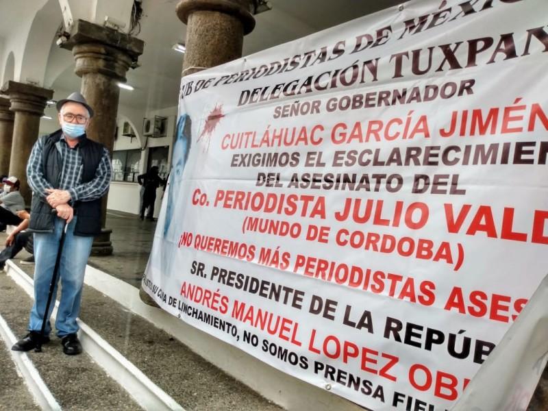 Comunicadores tuxpeños piden justicia para Julio Valdivia