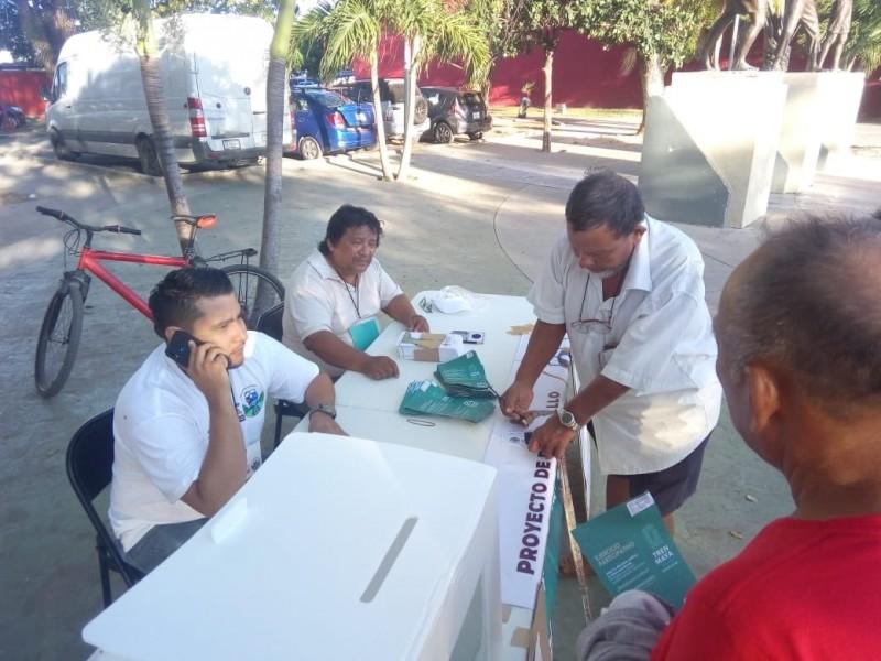 Comunidades indígenas aceptan Tren Maya en primer día