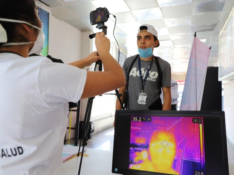 Con cámaras térmicas, detecta TAM personas con fiebre
