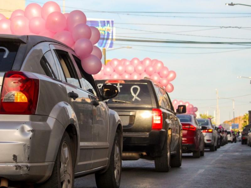 Con caravana celebran Día Internacional contra el cáncer de mama