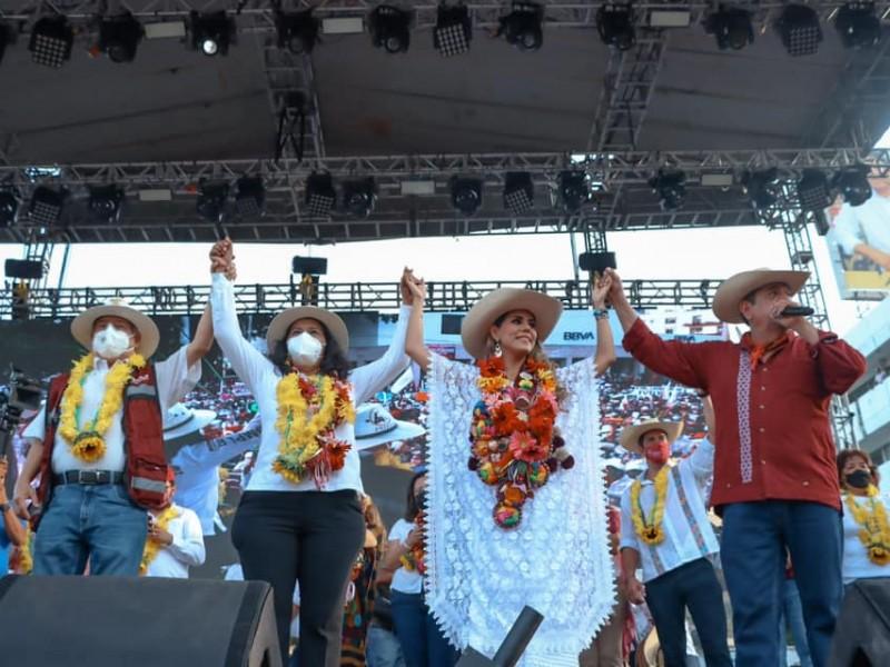 Con dos eventos masivos, concluye campaña proselitista Evelyn Salgado