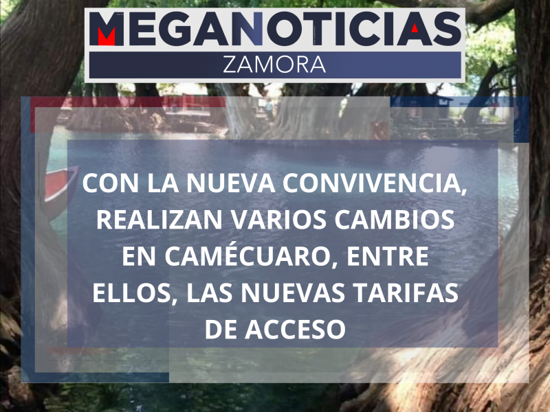 Con la nueva convivencia, incrementan tarifas en lago de Camécuaro.