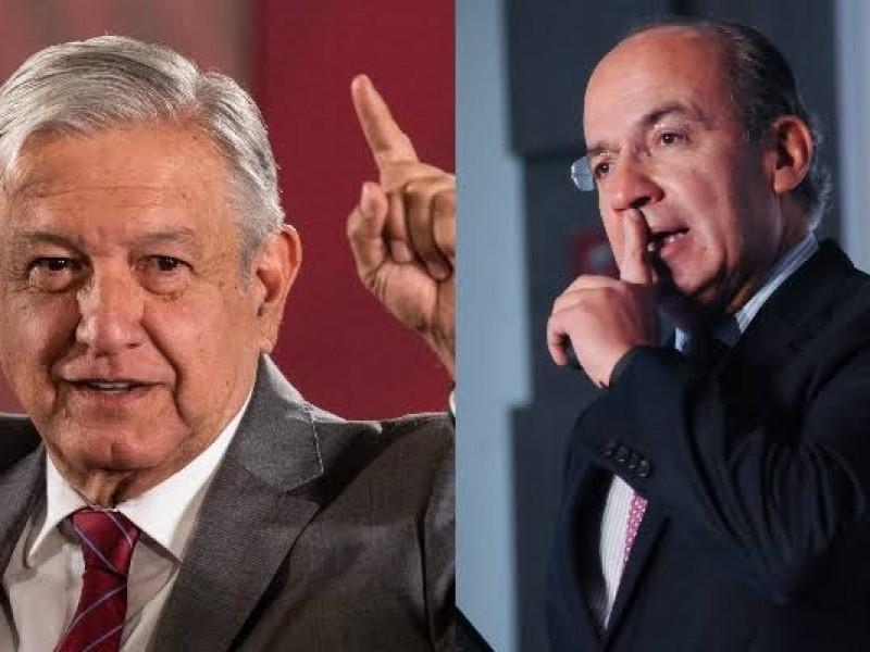 ¡Con los hijos no!: Calderón reclama a AMLO