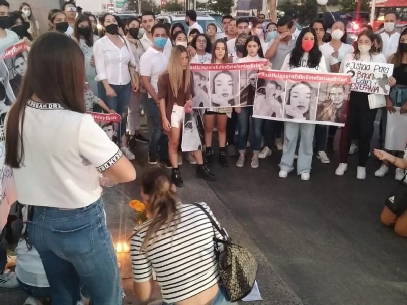 Con manifestación exigen justicia para Estefanía, Brian y Edín
