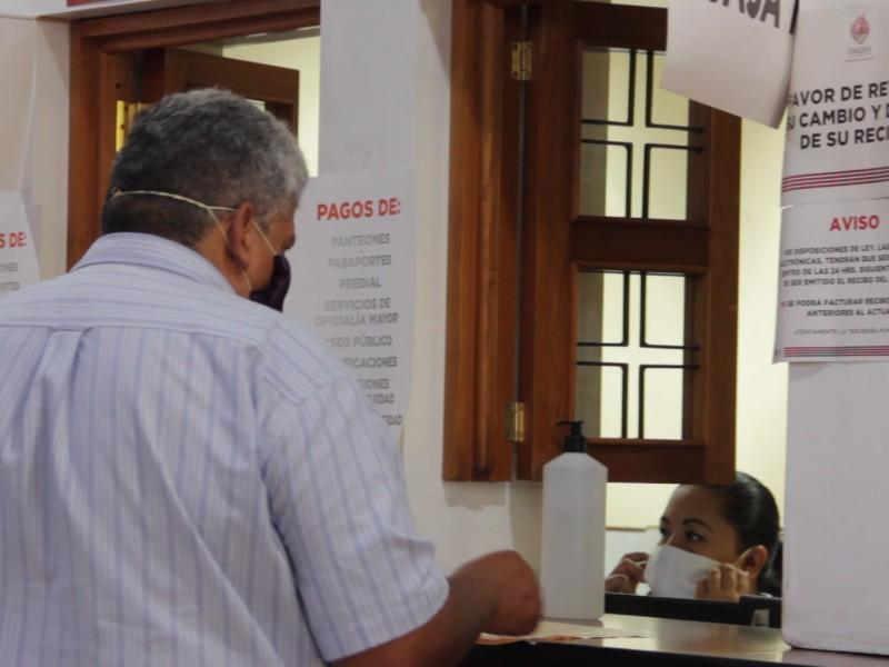 Con medidas sanitarias inician campañas de recaudación de impuestos