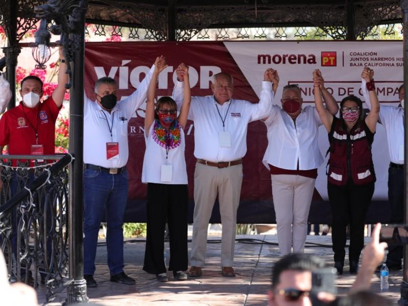 Con recorrido por BCS Victor Castro arrancó campaña