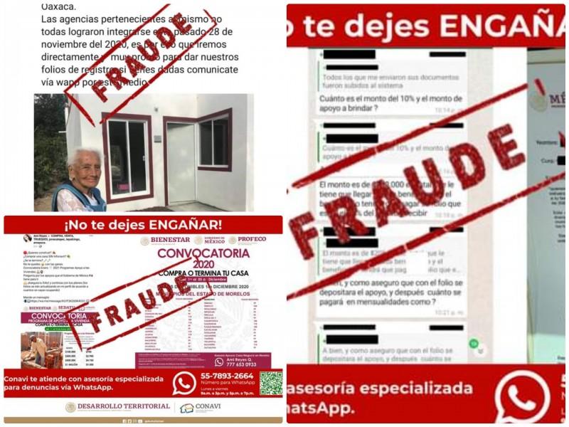 CONAVI advierte de fraudes detectados en el Istmo por reconstrucción