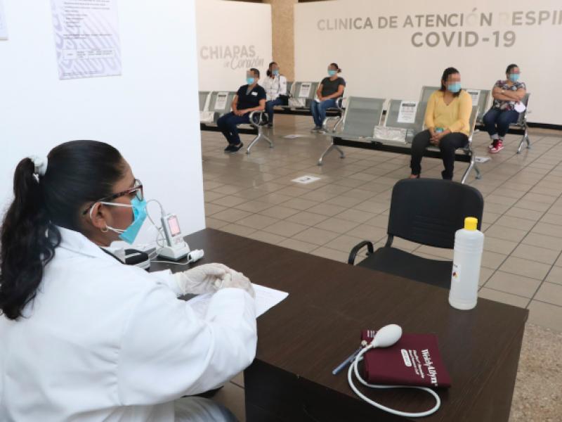Concentración de casos de COVID, identificados en Chiapas