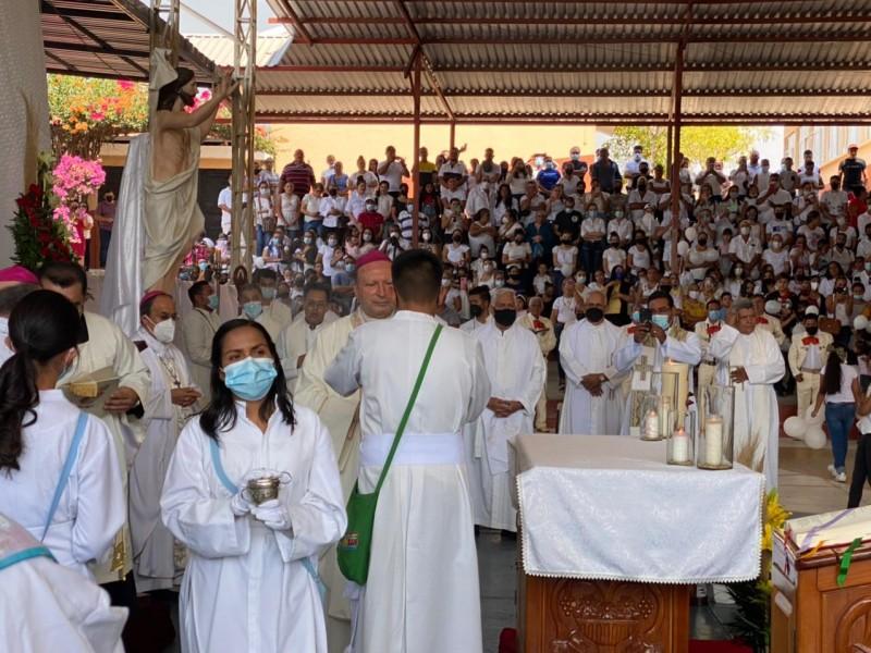 Concluye misa por la paz y la seguridad en Aguililla