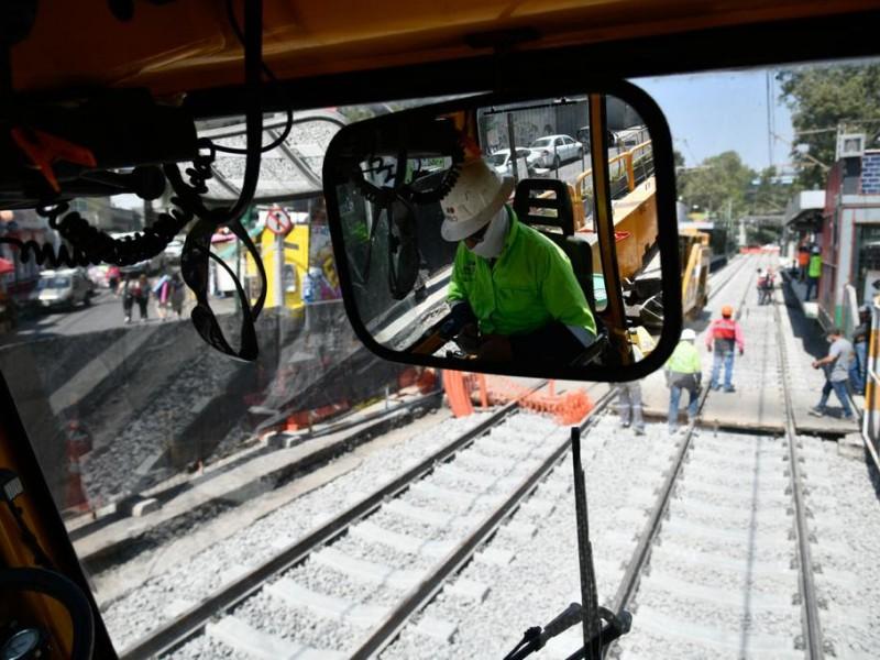 Concluyen trabajos de mantenimiento a vías del Tren Ligero