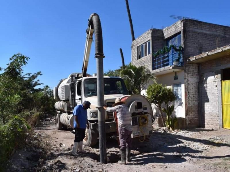 Confirma OROMAPAS Tecuala drenaje colpasado en diversas zonas del municipio