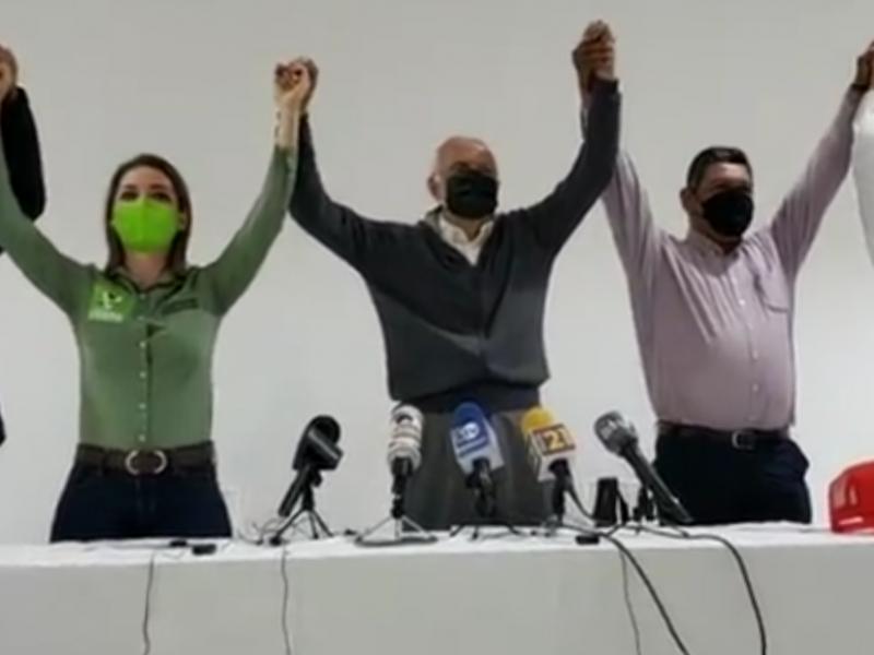 Confirman alianza entre MORENA, PT, Verde Ecologista y Nueva Alianza