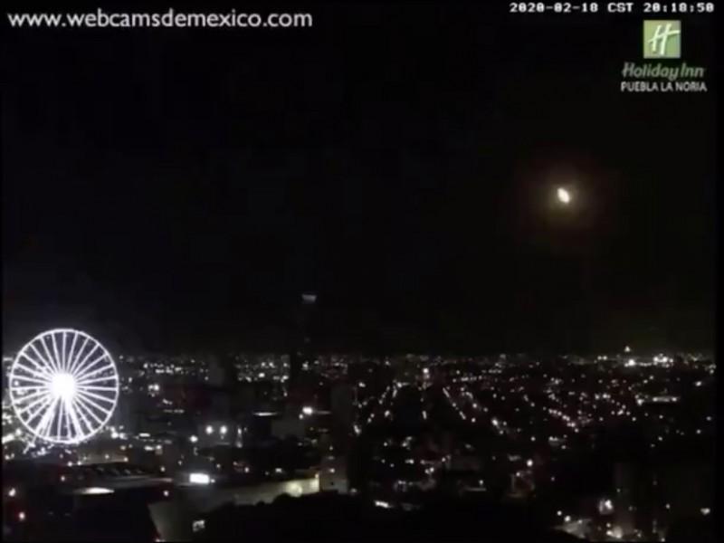 Confirman avistamiento de meteorito en territorio mexicano