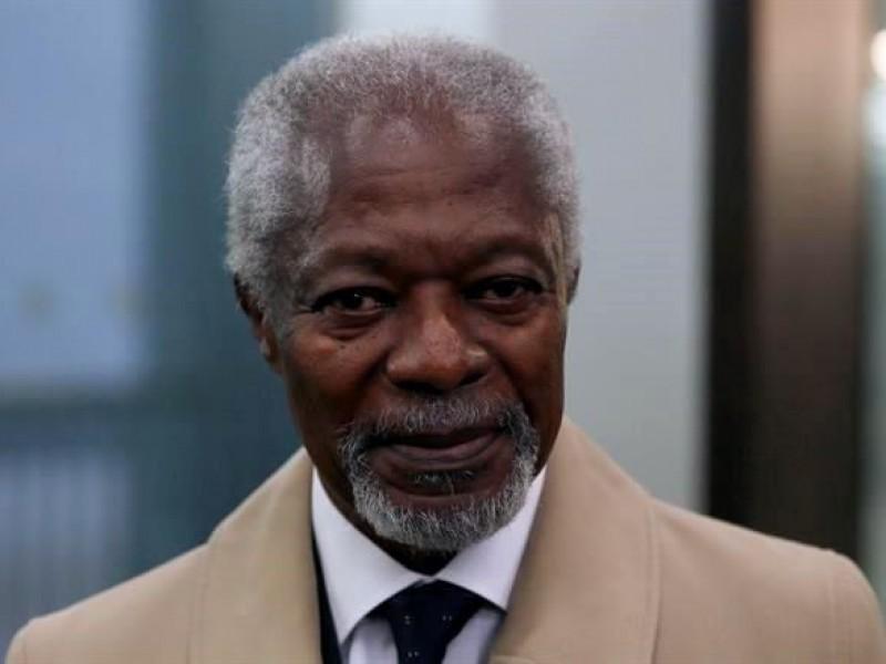 Confirman muerte de Kofi Annan