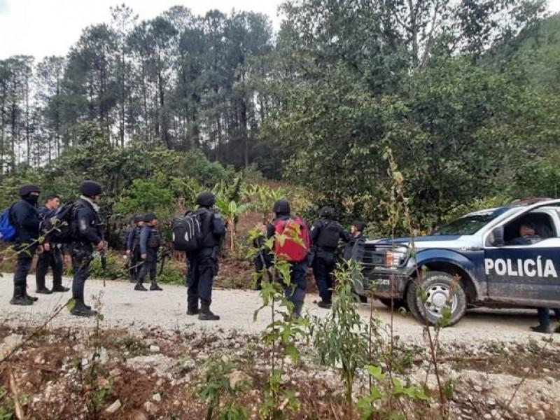 Conflicto en la Sierra Sur deja dos patrullas dañadas