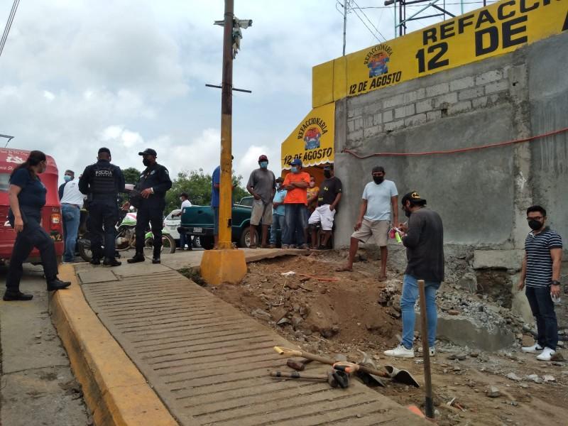 Conflicto por construcción en espacio federal en Tehuantepec