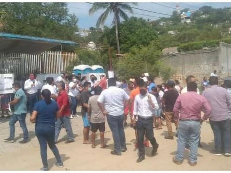 Conflictos en la jornada electoral en Salina Cruz