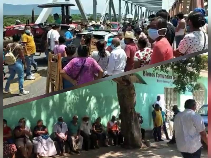Conflictos internos divide a comuneros de Santa Cruz Tagolaba