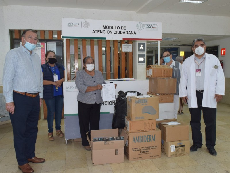 Congreso  entregó insumos hospitalarios al IMSS y al ISSSTE