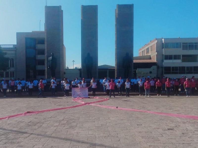 Conmemora IMSS con marcha el día de la lucha contra el cáncer de mama