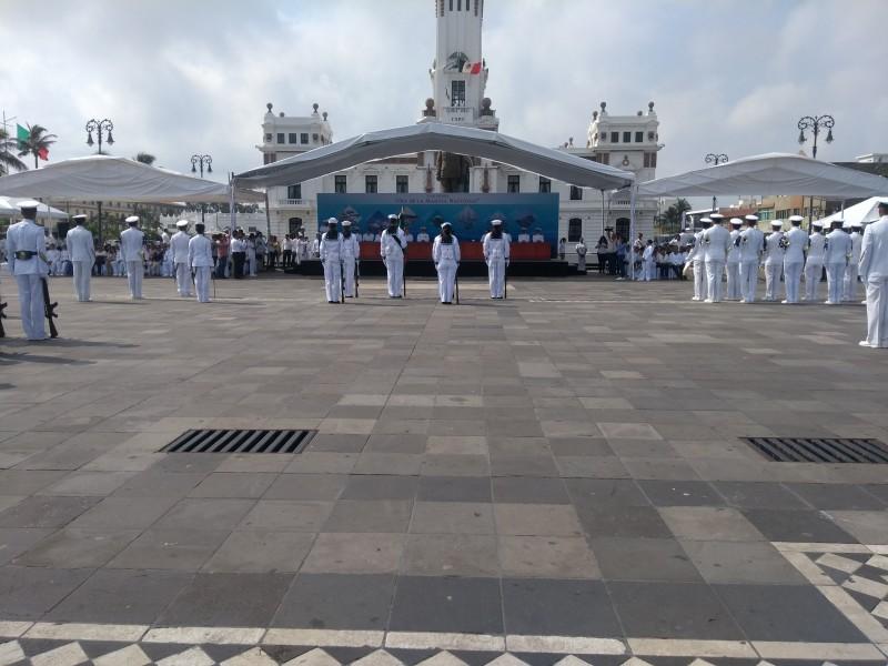 Conmemoran 101 aniversario de la Marina Nacional